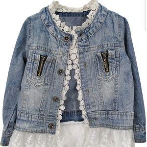 Lace & Denim Girl's Fashion Jacket